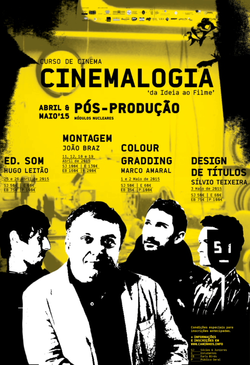 Cartaz A3+ Cinemalogia - abril